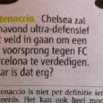 Vandaag staat in de gratis krant Metro een artikel over het verwachte Catenaccio-voetbal van Chelsea tegen Barça, vanavond in de Champions League. In het artikel komt onze oprichter Thomas Boeschoten […]